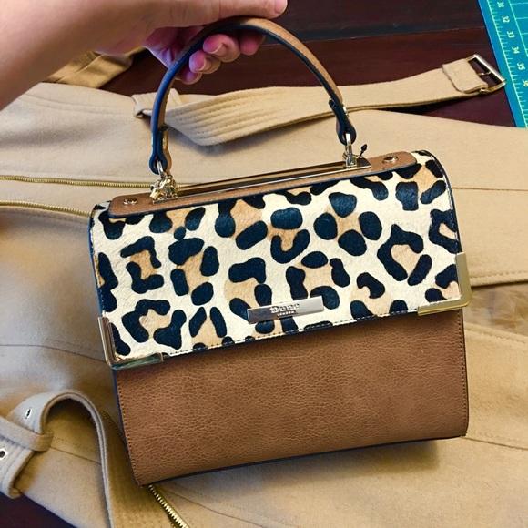 b2d8520c4f7aa NWT Leopard Handbag Satchel